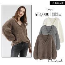 Chicwish V-Neck Long Sleeves Plain Sweaters