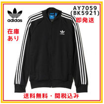 adidas Stripes Unisex Street Style Plain Medium Jackets