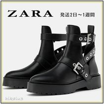 ZARA Casual Style Ankle & Booties Boots