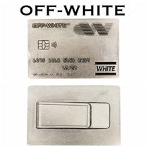 Off-White Unisex Street Style Wallets & Small Goods