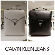 Calvin Klein Casual Style Faux Fur Street Style A4 Backpacks