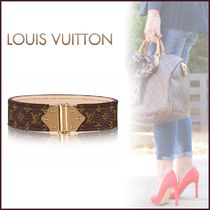 Louis Vuitton MONOGRAM Blended Fabrics Leather Elegant Style Bracelets