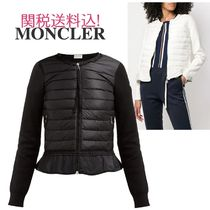 MONCLER Short Blended Fabrics Plain Outerwear