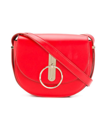Casual Style Calfskin Shoulder Bags