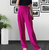 Street Style Plain Cotton Long Party Style Oversized Pants
