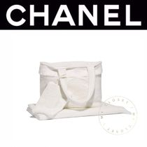 CHANEL Casual Style Street Style A4 Plain Oversized Totes