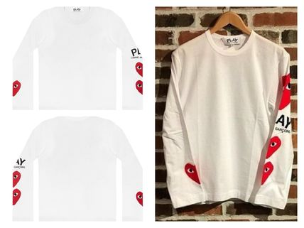 COMME des GARCONS Long Sleeve Heart Unisex Street Style U-Neck Long Sleeves Cotton 4