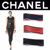 CHANEL SPORTS Casual Style Blended Fabrics Street Style Headbands
