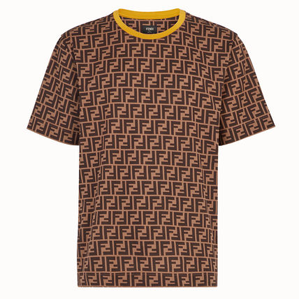 FENDI Crew Neck Crew Neck Monogram Cotton Short Sleeves Crew Neck T-Shirts 2