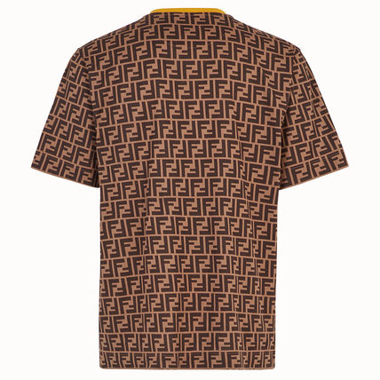 FENDI Crew Neck Crew Neck Monogram Cotton Short Sleeves Crew Neck T-Shirts 3