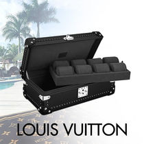 Louis Vuitton TAIGA Blended Fabrics Studded Bi-color Plain Leather With Jewels