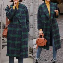 Other Check Patterns Casual Style Long Chester Coats