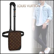 Louis Vuitton MONOGRAM Monogram Canvas Blended Fabrics Street Style 2WAY Bi-color