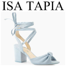 Isa Tapia Open Toe Casual Style Plain Chunky Heels Sandals Sandal