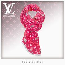 Louis Vuitton MONOGRAM Silk Other Animal Patterns Fringes