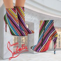 Christian Louboutin So Kate Stripes Blended Fabrics Leather Pin Heels Party Style