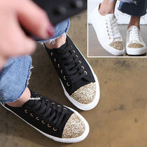 Round Toe Lace-up Casual Style Plain Slip-On Shoes
