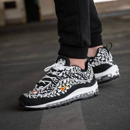 new style cefe7 f2e8f Nike AIR MAX 98 2018-19AW Street Style Leather Sneakers (AQ4130 100)