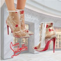 Christian Louboutin So Kate Pin Heels PVC Clothing Elegant Style Ankle & Booties Boots