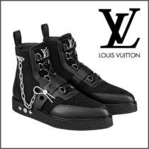 Louis Vuitton Mountain Boots Suede Street Style Chain Plain Outdoor Boots