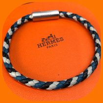HERMES Unisex Leather Bracelets