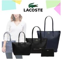 LACOSTE Casual Style Plain PVC Clothing Totes