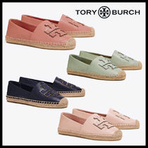 Tory Burch Plain Toe Rubber Sole Casual Style Unisex Blended Fabrics