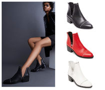 Steve Madden Rubber Sole Plain Leather Ankle & Booties Boots