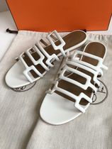 HERMES Open Toe Plain Sandals Sandal