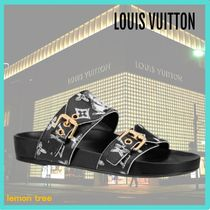Louis Vuitton Blended Fabrics Street Style Leather Sport Sandals