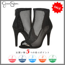 Jessica Simpson Open Toe Plain Party Style Chunky Heels High Heel Boots