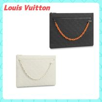 Louis Vuitton MONOGRAM Monogram Unisex Street Style Bag in Bag A4 Chain Plain