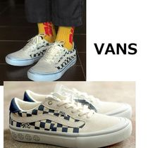 VANS Other Check Patterns Suede Street Style Collaboration