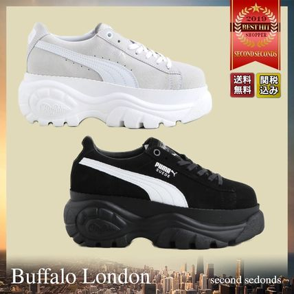 Platform Casual Style Unisex Suede Street Style