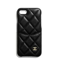CHANEL Plain Leather iPhone 8 Smart Phone Cases