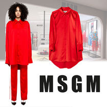 MSGM Casual Style Plain Long Super-long Sleeves Shirts & Blouses