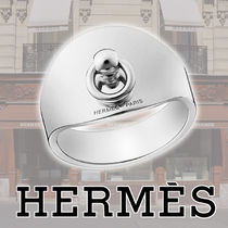 HERMES Collier de Chien Casual Style Silver Rings