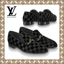 Louis Vuitton Other Check Patterns Loafers Blended Fabrics