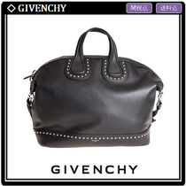 GIVENCHY NIGHTINGALE Unisex Studded A4 2WAY Leather Totes