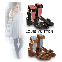 Louis Vuitton Monogram Plain Elegant Style Sandals