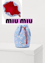 MiuMiu Flower Patterns Pouches & Cosmetic Bags