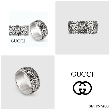 GUCCI Rings Street Style Silver Rings