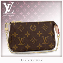 Louis Vuitton MONOGRAM Monogram Chain Leather Pouches & Cosmetic Bags