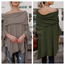 Casual Style Cotton Bandeau & Off the Shoulder