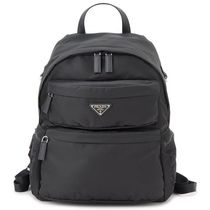 PRADA Nylon Plain Backpacks