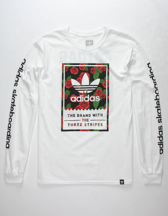 adidas Long Sleeve Flower Patterns Long Sleeves Cotton Long Sleeve T-Shirts 2