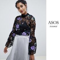 ASOS Flower Patterns Casual Style Street Style Long Sleeves Lace