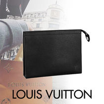 Louis Vuitton TAIGA Blended Fabrics Street Style Bag in Bag 3WAY Plain Leather