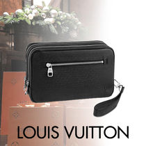 Louis Vuitton TAIGA Blended Fabrics Street Style Bag in Bag 3WAY Bi-color Plain
