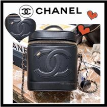 CHANEL ICON Lambskin Vanity Bags Chain Plain Elegant Style Crossbody